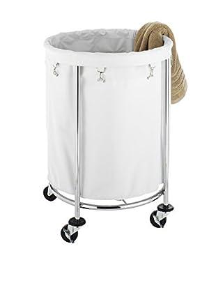 Whitmor Round Laundry Hamper, Tan