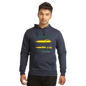 Campus Sutra Men's Sweatshirt, Blue