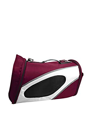 Pet Life Airline Approved Phenom-Air Collapsible Pet Carrier, Red/White, Large