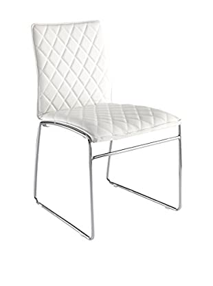 Contemporary Kitchen Set Silla 4 Uds. Mesh Bianco