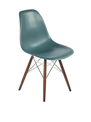 Control Brand The Mid-Century Eiffel Dining Chair, Navy Green/Walnut