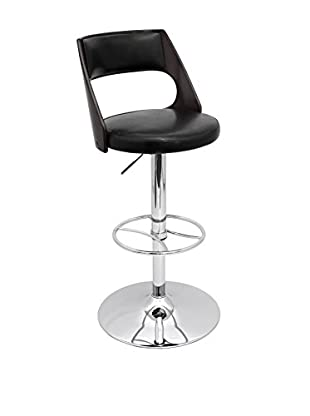 LumiSource Presta Bar Stool, Wenge/Black