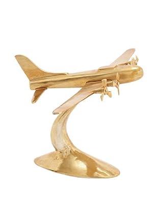 Gold Airplane Statuary