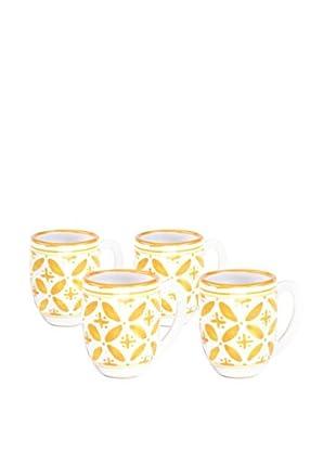 Sobremesa Set of 4 Fez Mugs, Yellow