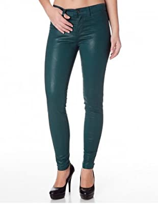 J Brand Leggings Low Rise Satin (coatedteal)