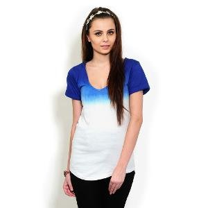 Yepme Women's Top - Blue & White