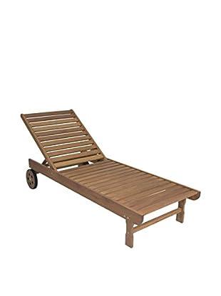 Amazonia Garopaba Chaise Lounger, Brown