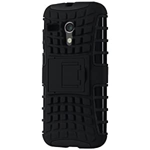 Cruzerlite Rugged Armour Dual Layer Defender Case for Motorola Moto G (Black)