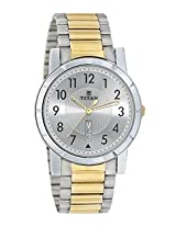 Titan Golden Stainless Steel Men Watch 1647BM01