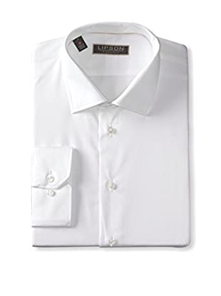 Lipson Shirtmakers Men's Solid Long Sleeve Dress Shirt (White)