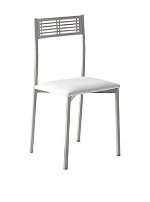 kitchen Furniture Set Silla 4 Uds. Gris / Blanco