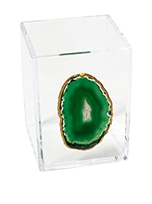 Mapleton Drive Green Agate & Acrylic Vessel