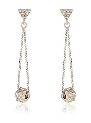 ANDREA BELLINI Ohrringe Géométrique Carré Sterling-Silber 925