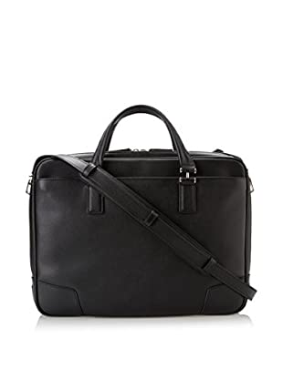 TUMI Astor Ansonia Zip Top Leather Brief, Black