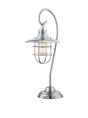 Lite Source Lanterna II 1-Light Table Lamp, Polished Steel