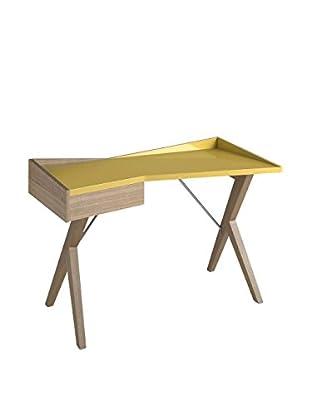 ANGEL CERDA Schreibtisch braun/senf