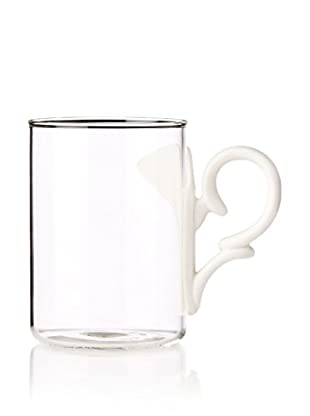 Seletti Modern Era Glass Mug with a Porcelain Handle
