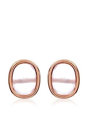 My Silver Pendientes luxuriest Cuarzo Rosa