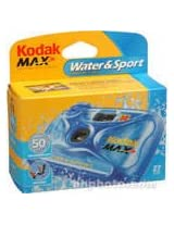 Kodak Water & Sport Waterproof (50'/15 m) 35mm One-Time-Use Disposable Camera (ISO-800) - 27 Exposures