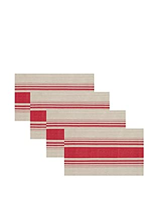 KAF Home Set of 4 Côte Herringbone Stripe Placemats