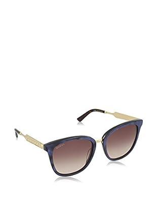 Gucci Gafas de Sol 0073S_005 (55 mm) Azul / Dorado