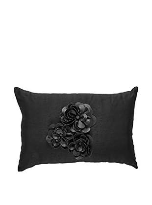 Bandhini Homewear Design Corsage Lumbar Pillow, Black