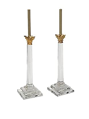 Go Home Set of 2 William & Kate Candlesticks