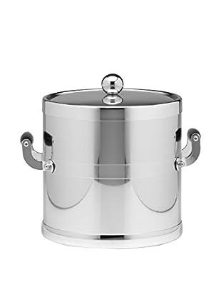 Kraftware Polished Chrome Handled Ice Bucket