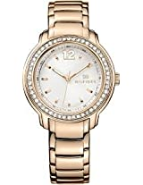 Tommy Hilfiger Silver Dial Rose Gold-tone Ladies Watch 1781468