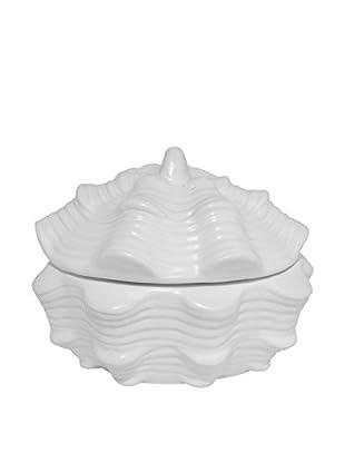 Three Hands Ceramic Shell Box