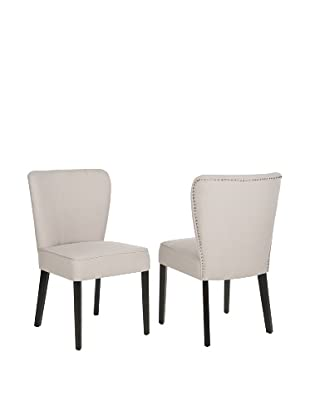 Safavieh Set of 2 Clifford Side Chairs, Taupe