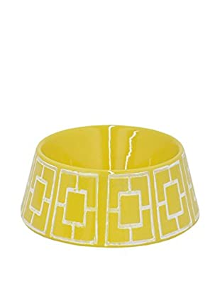 Three Hands Geometric Ceramic Pet Bowl