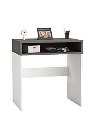 Office Ideas Schreibtisch grau/weiß 73 x 50 x 77H cm