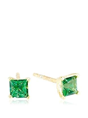 Cordoba Jewels Pendientes plata de ley 925 milésimas bañada en oro / Dorado