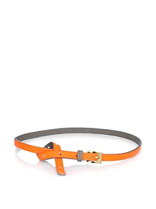 Gorjana Women's Colorblock High Waist Belt (Neon Orange/Grey)