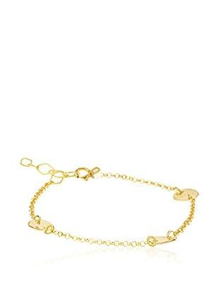 Cordoba Jewelles Pulsera plata de ley 925 milésimas bañada en oro