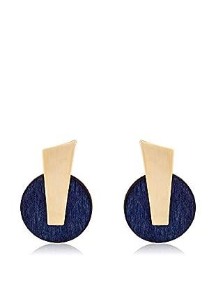 MAIOCCI Pendientes Dorado / Azul