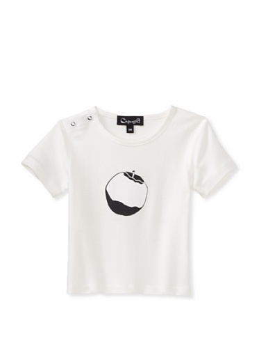 A for Apple Hay T-Shirt with Logo Apple (White)