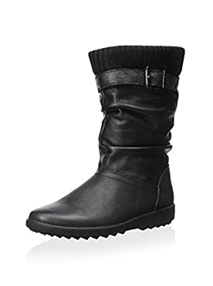 Cougar Women's Vivid Pull-On Insulated Snow Boot (Black Leather)