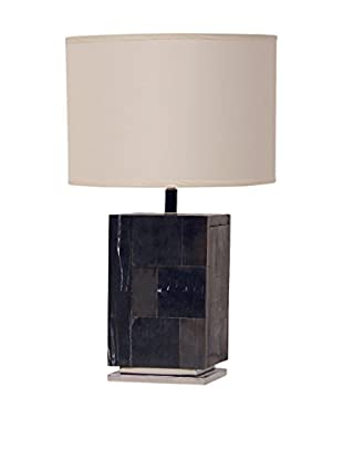 Palecek Petrified Wood Block Lamp, Multi