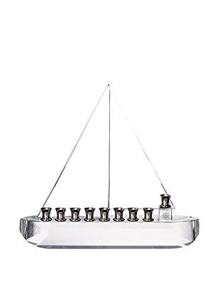 Legacy Judaica Crystal Sail Boat Menorah