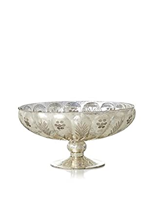 Sage & Co. Etched Mercury Glass Compote