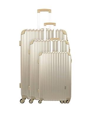 Manoukian Set de 3 trolleys rígidos