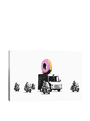 Banksy Donut Police Gallery Wrapped Canvas Print