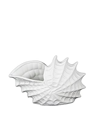 Privilege International White Ceramic Sea Shell