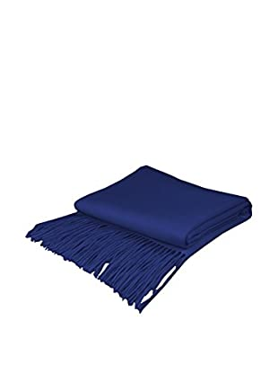 PÜR Cashmere Signature Blend Throw, Indigo