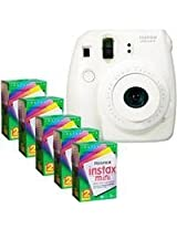 FujiFilm Instax Mini 8 Camera, 62x46mm Picture Size, 20 Exposures (Total 100 Sheets)