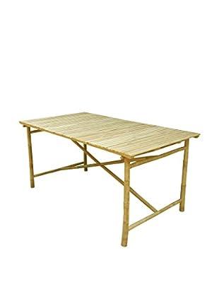 ZEW, Inc. Rectangular Bamboo Table, Natural