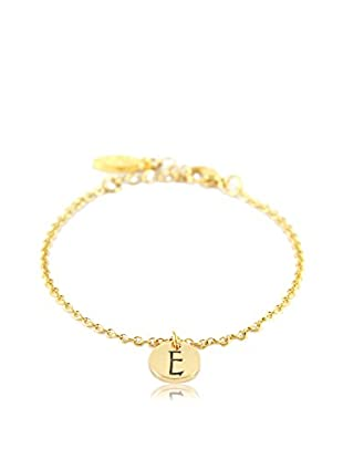 Ettika 18K Gold-Plated E Initial Chain Bracelet