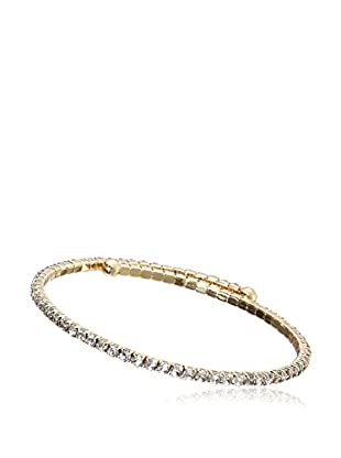 Riccova Country Chic Crystal Tennis-Style Wrap Bangle Bracelet, Gold